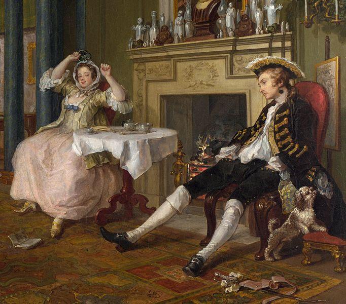 William Hogarth Matrimonio A La Moda Detalle 1743 Revistas De