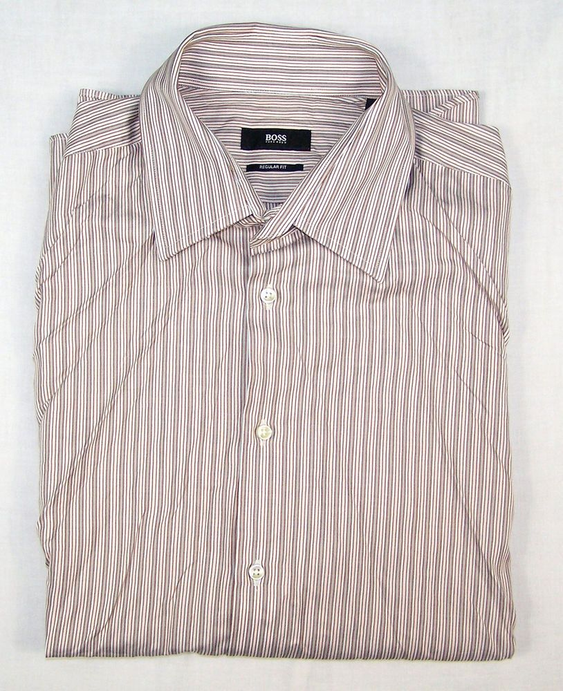 8f969f007 HUGO BOSS MENS REGULAR FIT SHIRT Size 43 / 17 #fashion #clothing #shoes  #accessories #mensclothing #shirts (ebay link)