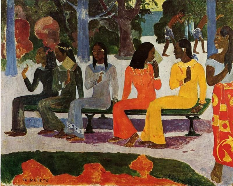 We Shall Not Go to Market Today, 1892 Paul Gauguin. Basel, Switzerland.