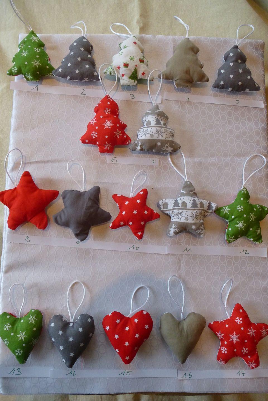 décoration en tissu pour sapin de Noël   Décoration noel fait main, Decoration noel, Noel