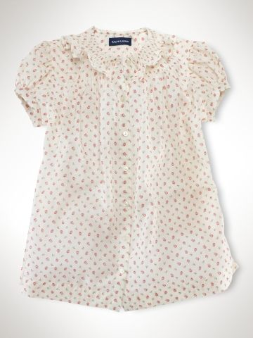Smocked-Collar Babydoll Top