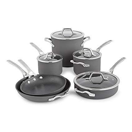 Calphalon Signature Hard Anodized Nonstick Cookware Set 10 Piece Grey Review