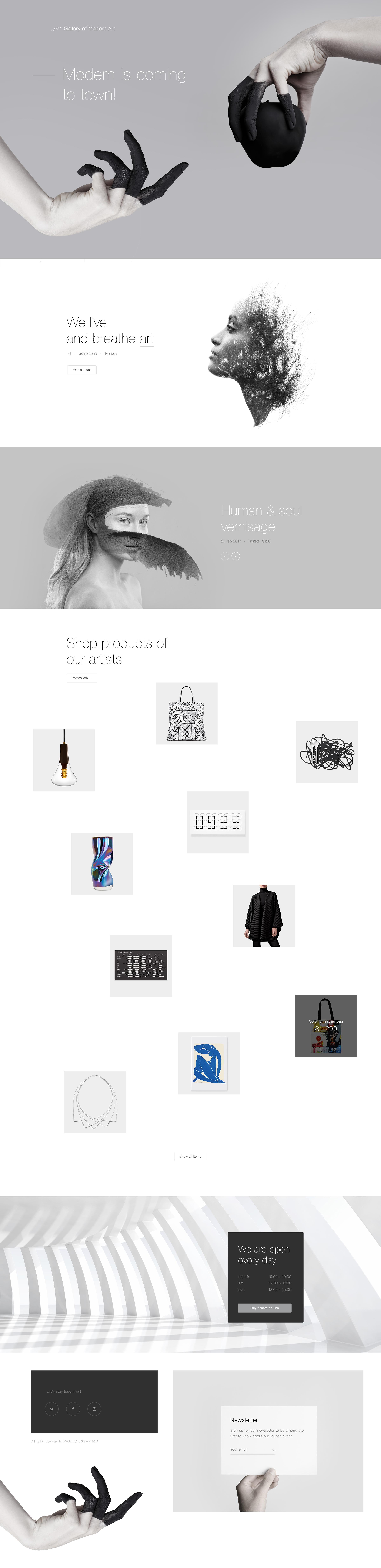 Art Gallery Web Design Web Design Inspiration Web Layout Design