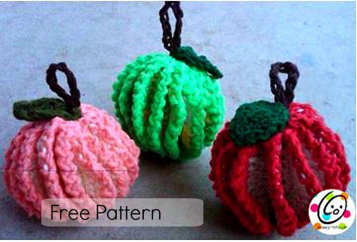 Pattern: Fruit Scrubbers | Patrones de crochet, Fruta y Amigurumis ...