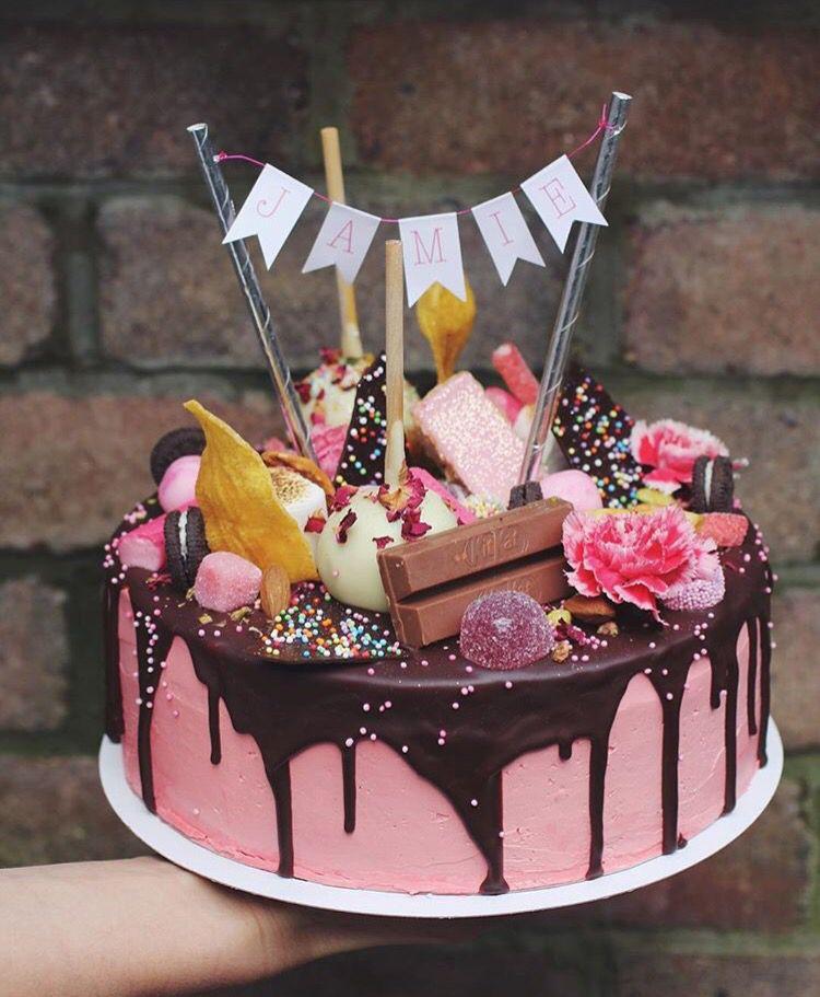 Outstanding Life Of Pie Amsterdam Drip Cake Met Afbeeldingen Taart Taart Funny Birthday Cards Online Fluifree Goldxyz