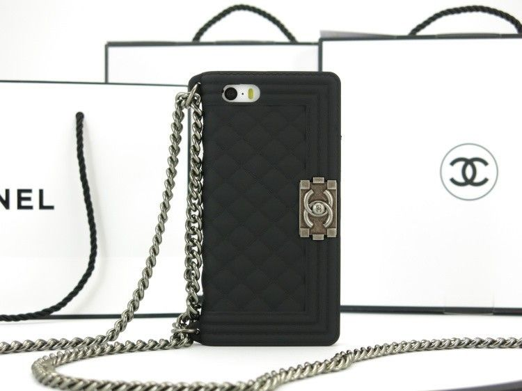 official photos ecf22 8da01 chanel le boy case for iphone x 8 7 6s plus cover coque black ...