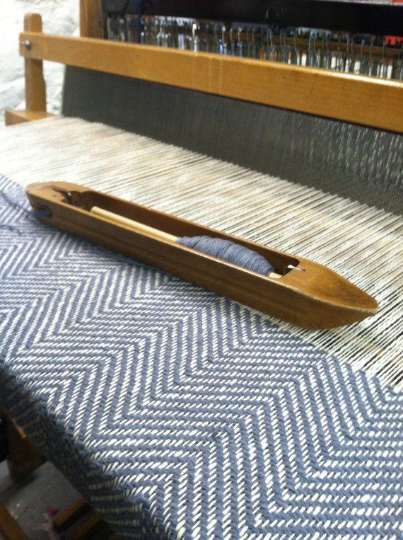 Woven Blanket GREY HERRINGBONE by bristolloomsri on Etsy