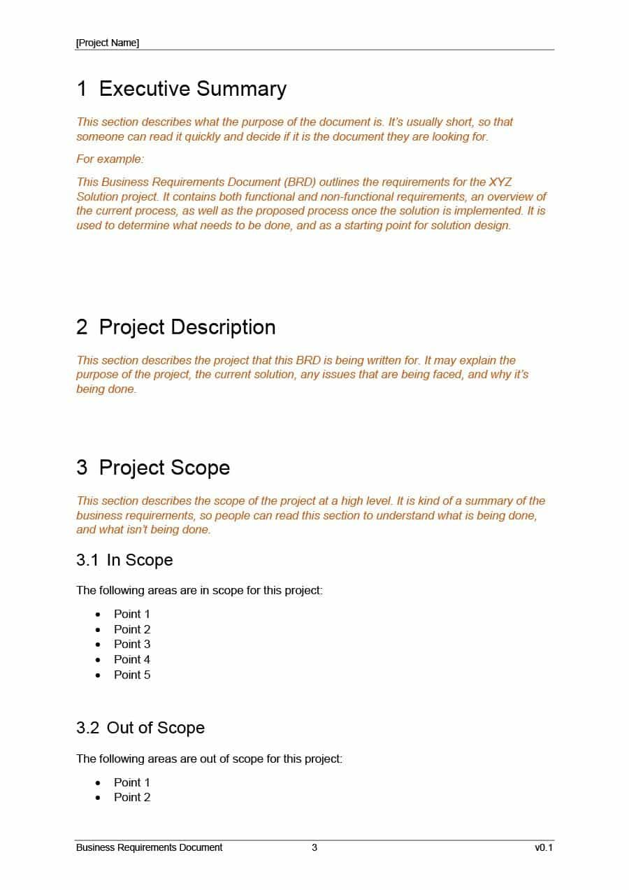 40+ Simple Business Requirements Document Templates ᐅ In