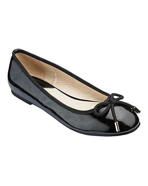 Heavenly Soles Ballerina Shoes E Fit | Simply Be