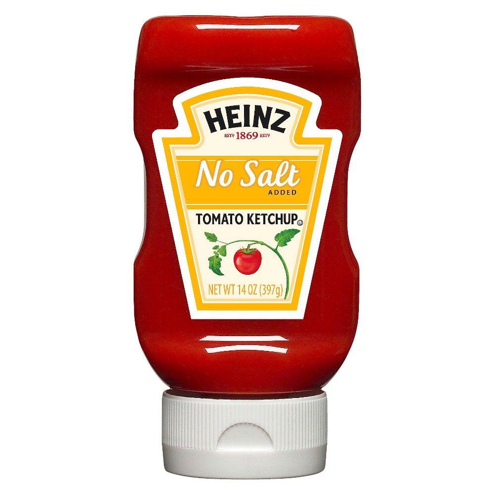 Heinz no salt tomato ketchup 14 oz products