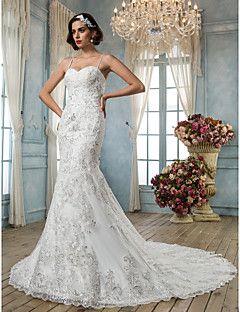 Lanting Bride® Trompette / Sirène Petites Tailles / Grandes Tailles Robe de Mariage - Classique & Intemporel / Elégant & Luxueux