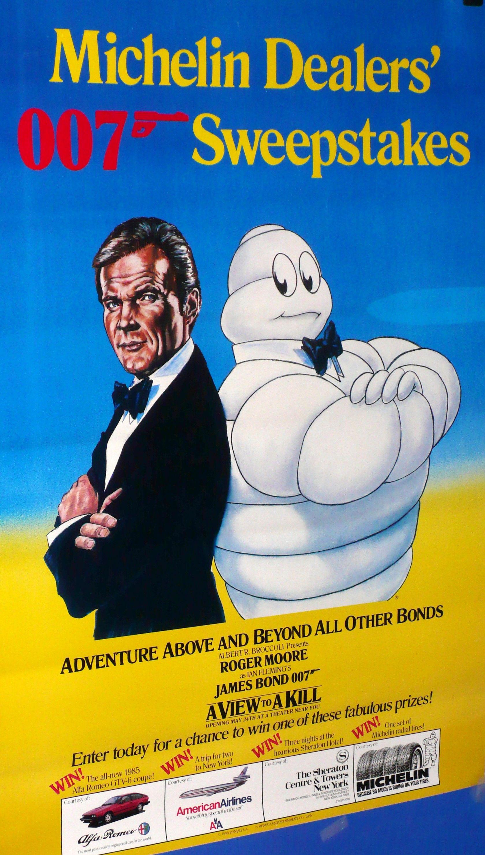 View To A Kill Michelin Tie In Poster Original 1985 James