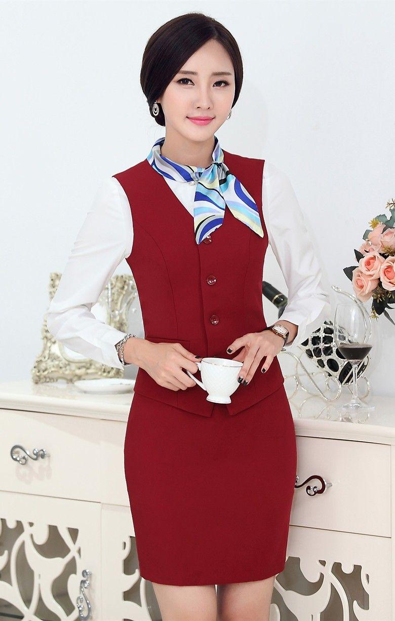 Fasormal mujeres trajes de negocios con falda y la parte superior establece  para mujer trajes de 6525aa792149