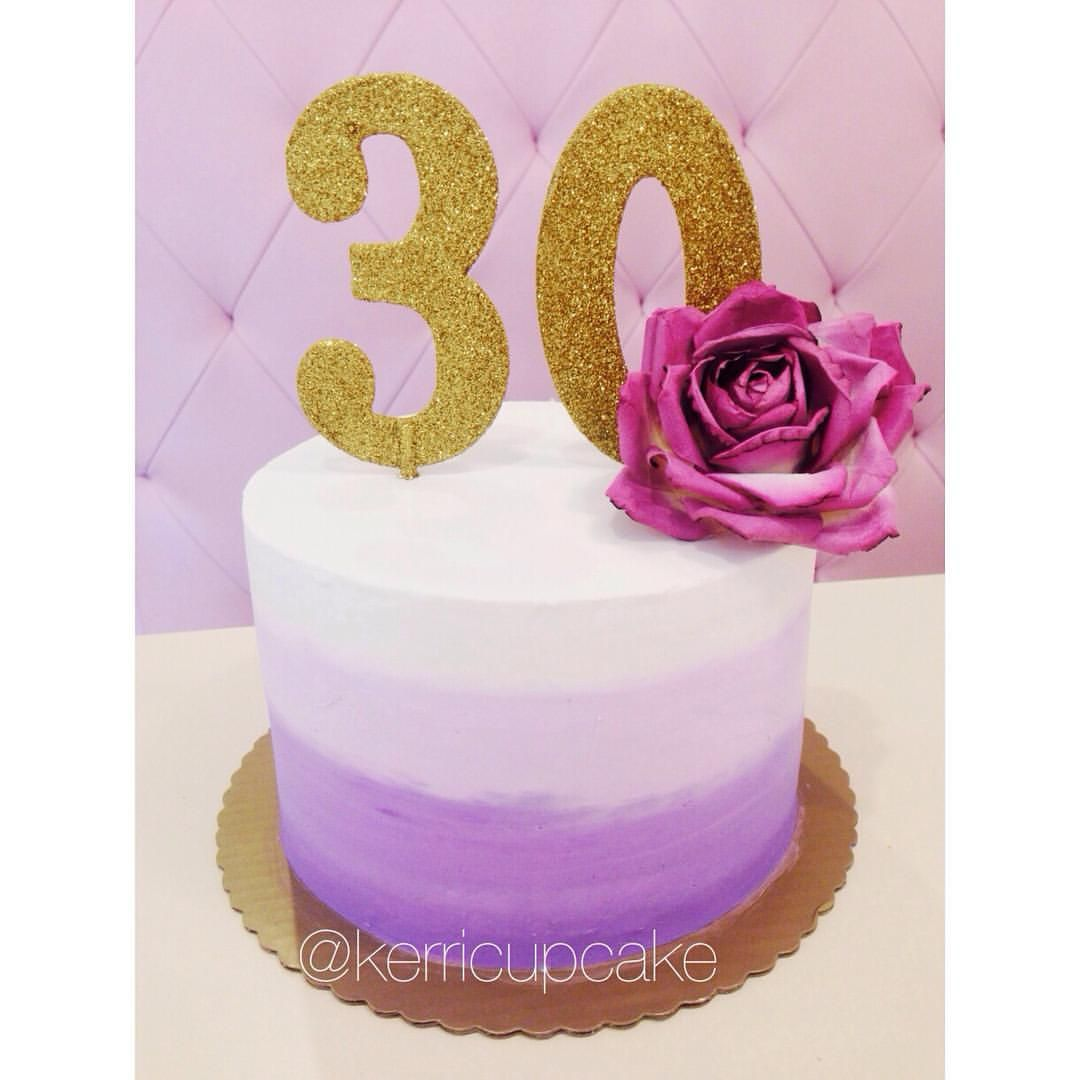 Kerricupcake On Instagram Ombre Cake For A 30th Birthday Purple Happybirthday 30th Birthday Cake For Women Purple Cakes Birthday Novelty Birthday Cakes