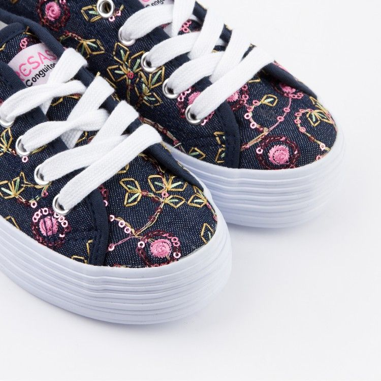 Zapatillas de Niña Plataforma Rosa