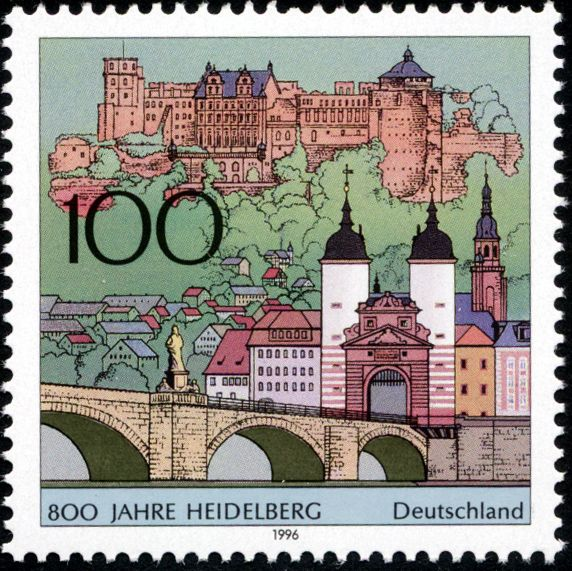 Stamp Germany 1996 Briefmarke Heidelberg.jpg Briefmarken