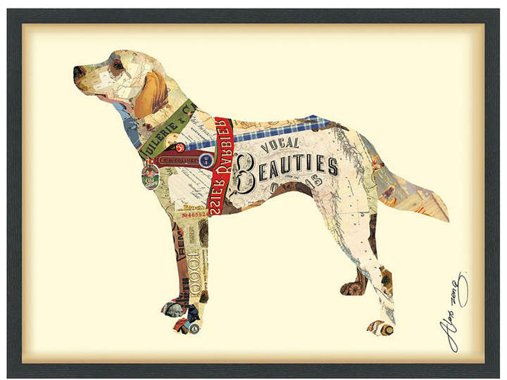 Empire art direct yellow lab dimensional collage wall