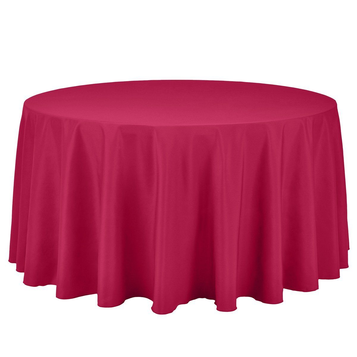 Remedios 108 Inch Round Polyester Tablecloth For Wedding