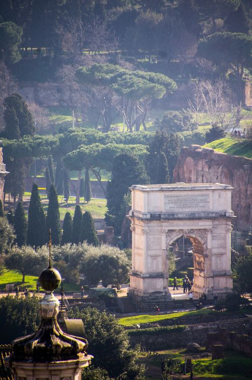 Arch Of Titus Rome Beautiful I Spent Many Hours Wandering Around The Ruins In Rome And