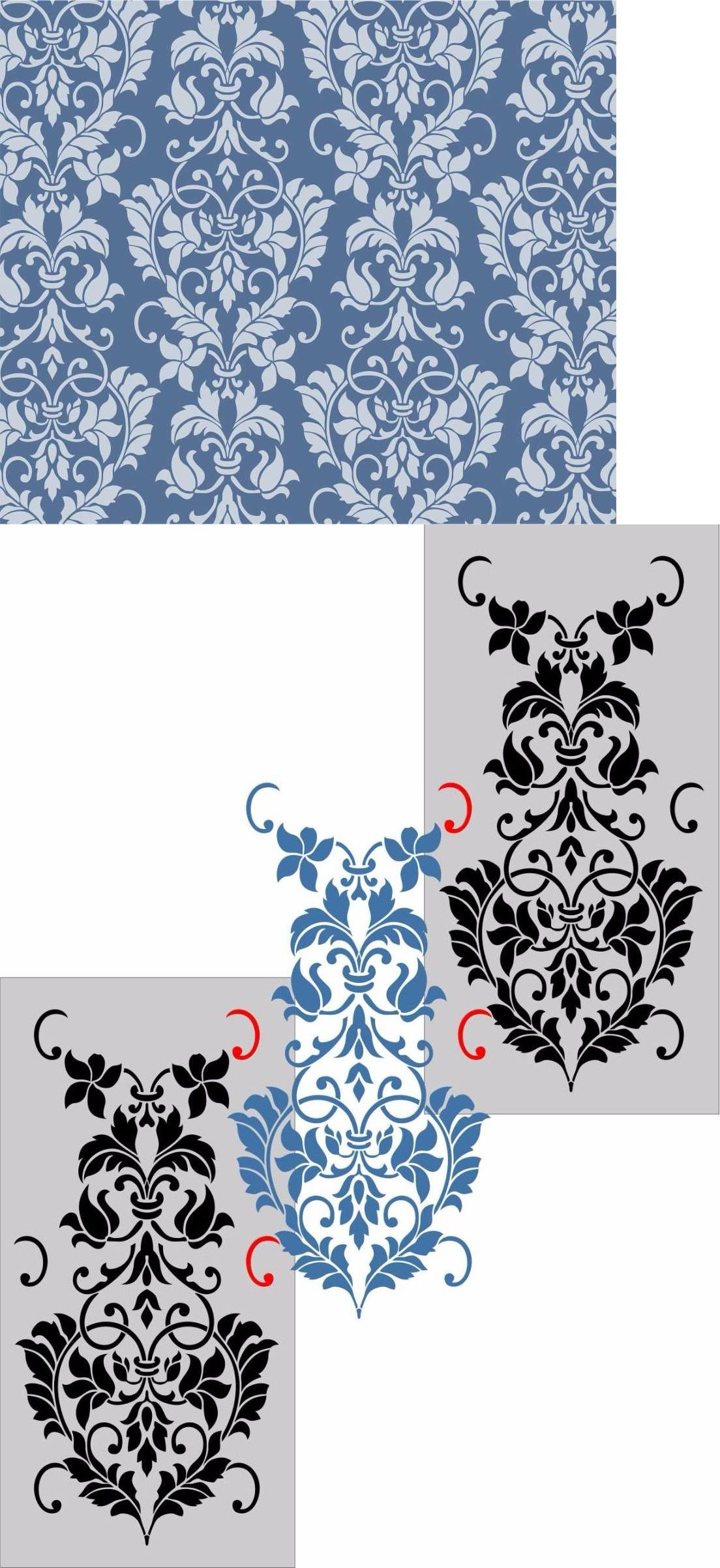 Stencils 41214 damask wall stencil template home decor art new stencils 41214 damask wall stencil template home decor art new reusable buy it amipublicfo Choice Image