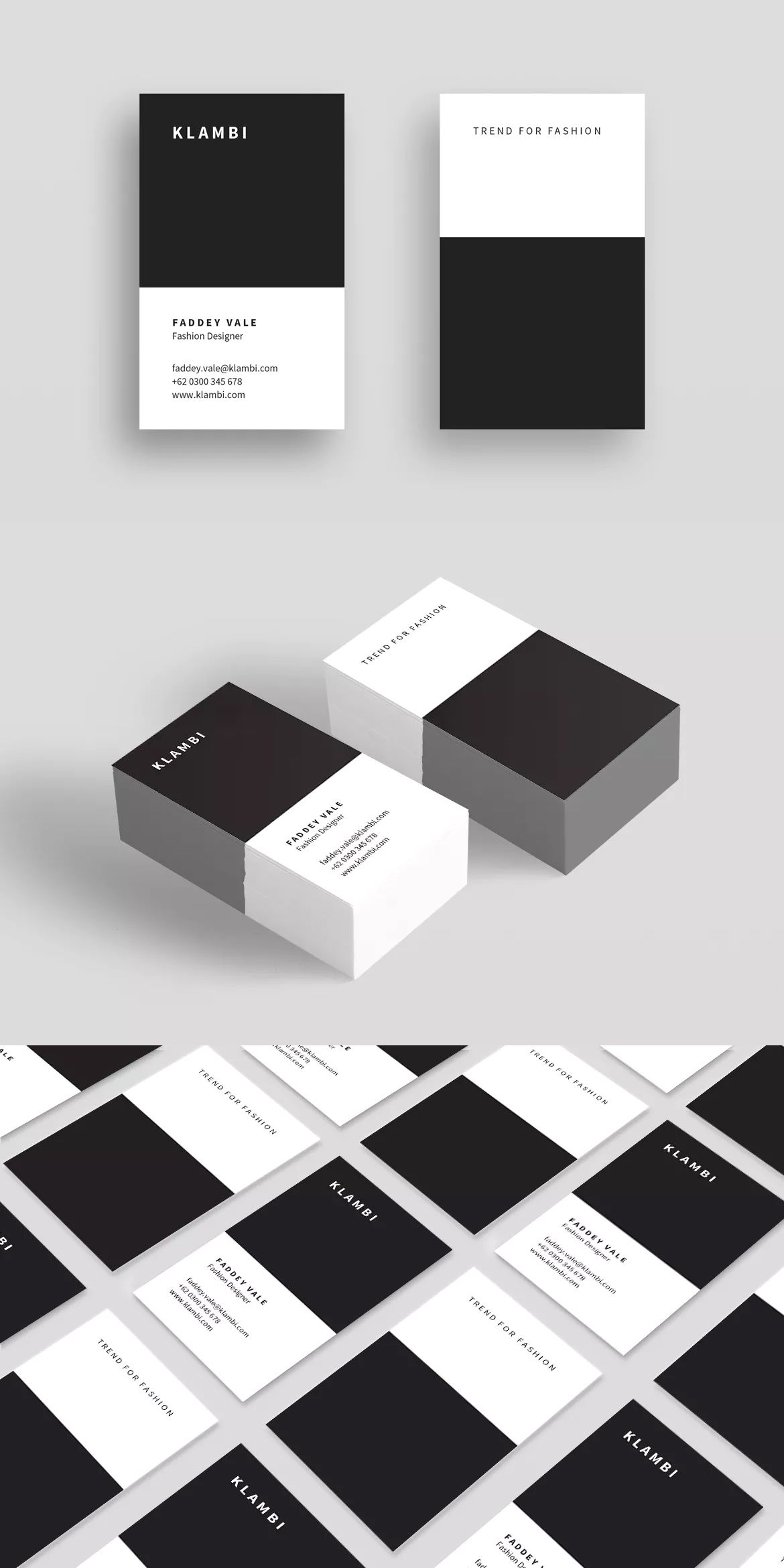 Business Card Vertical By Boxkayu On Envato Elements Vertical Business Card Template Vertical Business Cards Business Card Template Design