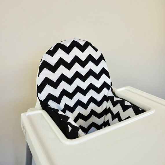 Fantastic Black And White Chevron Ikea Antilop High Chair Cushion Gmtry Best Dining Table And Chair Ideas Images Gmtryco