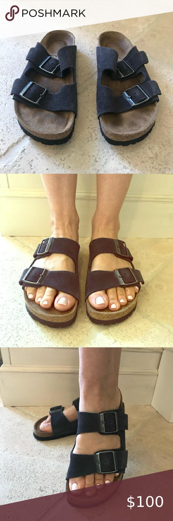 Birkenstock Sandals. Charcoal Grey
