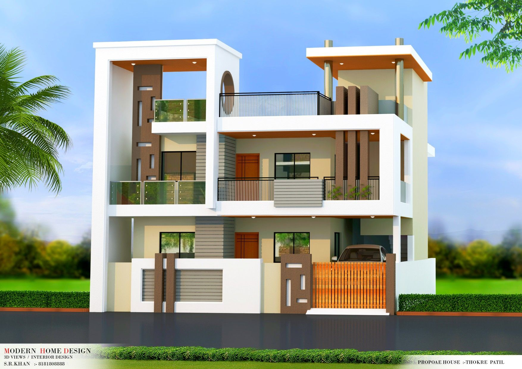 Pin By Modern Home Design On House Elevation Indian House Plans House Styles House Architecture Design