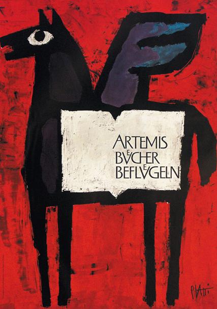 Poster by Celestino Piatti (1922-2007), Artemis e Bucher e Beflvglen. (S)
