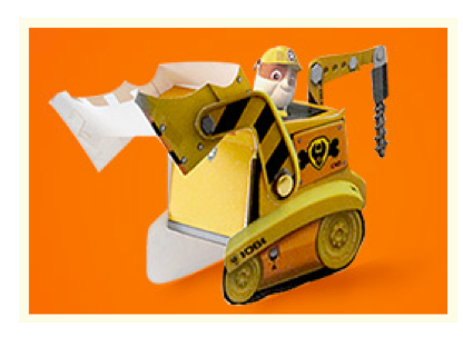 PAW Patrol fans will love this paper vehicle craft featuring Rubble!
