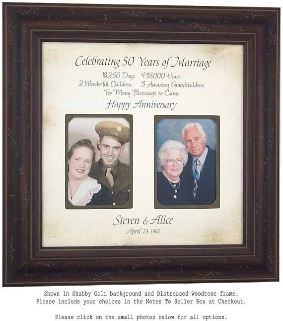 50th Anniversary Gift Anniversary Wedding Gift Mother of the ...