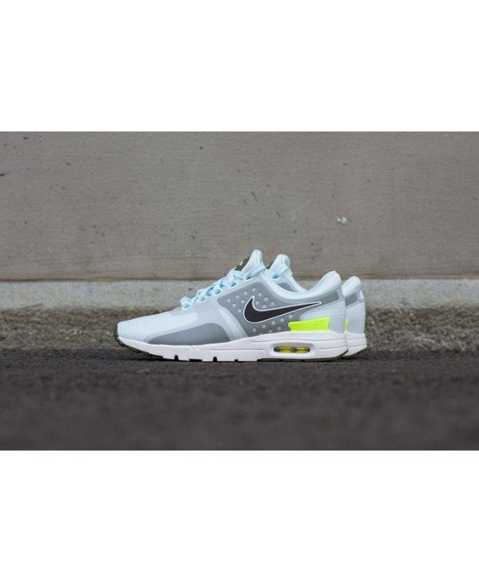 the best attitude 7817d a6bbb Nike Air Max Zero Si Glacier Blue Legion Green White Black Mens Shoes