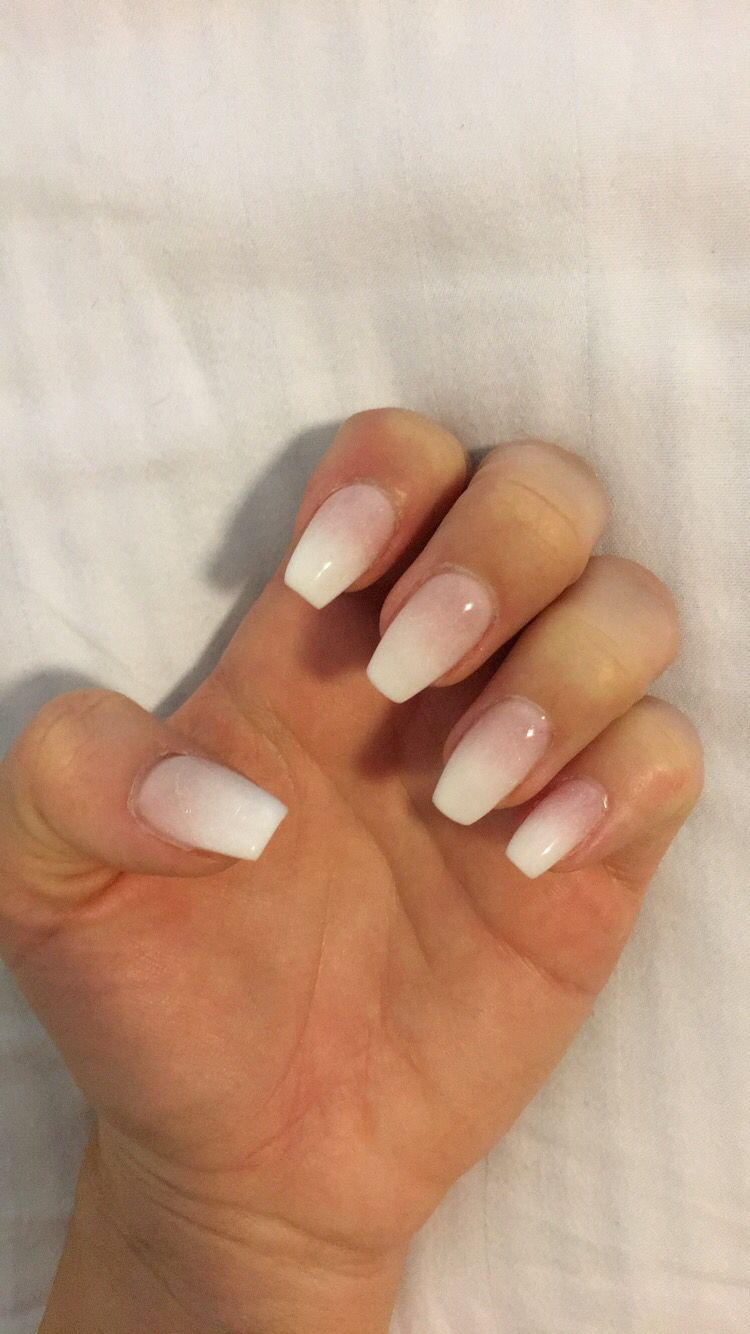 Ombré nexgen coffin nails | Nails | Pinterest | Coffin nails