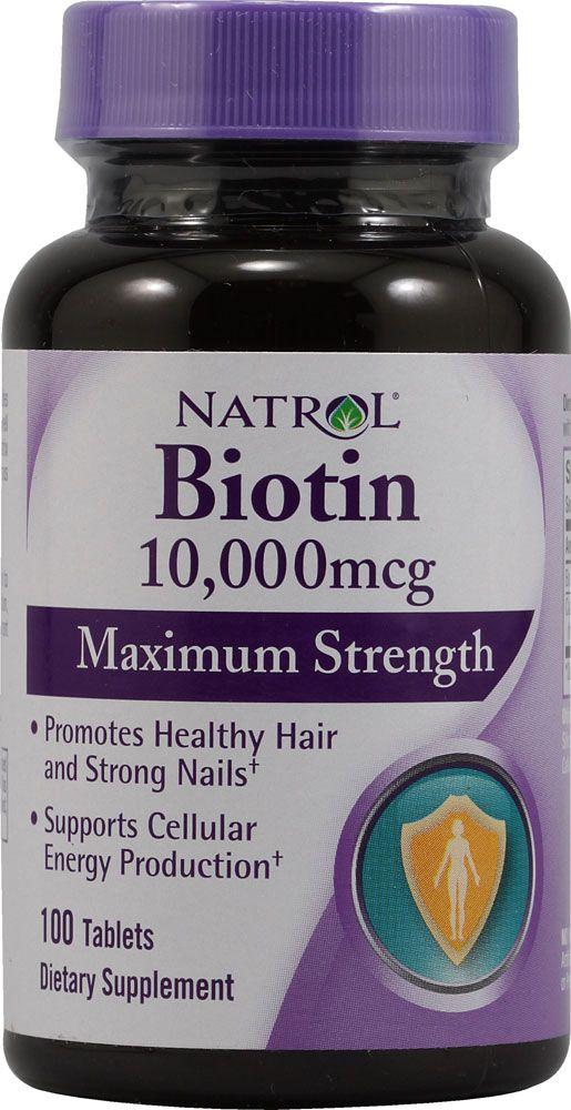 Natrol Biotin 10000 Mcg 100 Tablets Vitamins For Hair