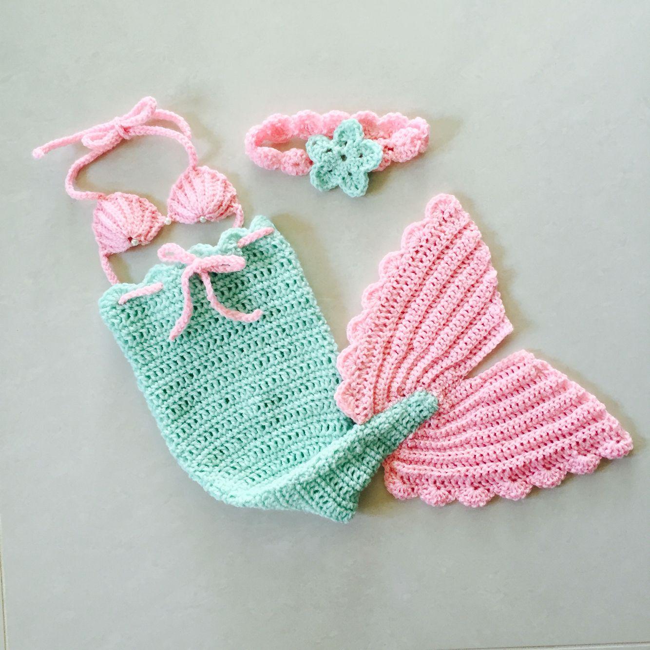 Crochet Newborn Mermaid Costume Crochet And Crafts Newborn