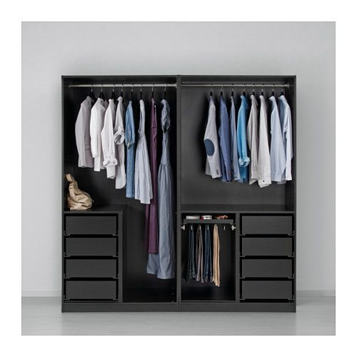 kleiderschrank pax schwarzbraun ilseng schwarzbraun in. Black Bedroom Furniture Sets. Home Design Ideas