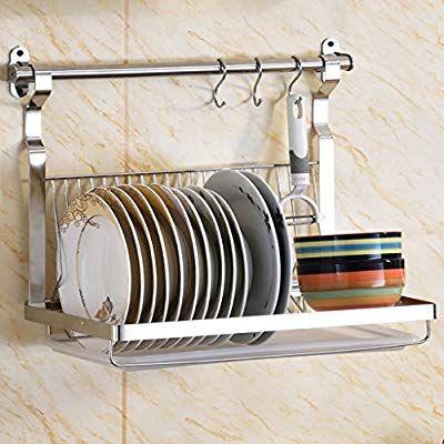 Kitchen Storage Shelf Stainless Steel Wall-Mounted Storage Rack