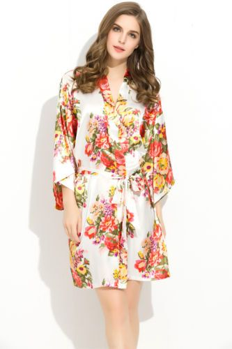451055a47df7 NEW set of 5 6 floral satin robes bridesmaid robes gowns