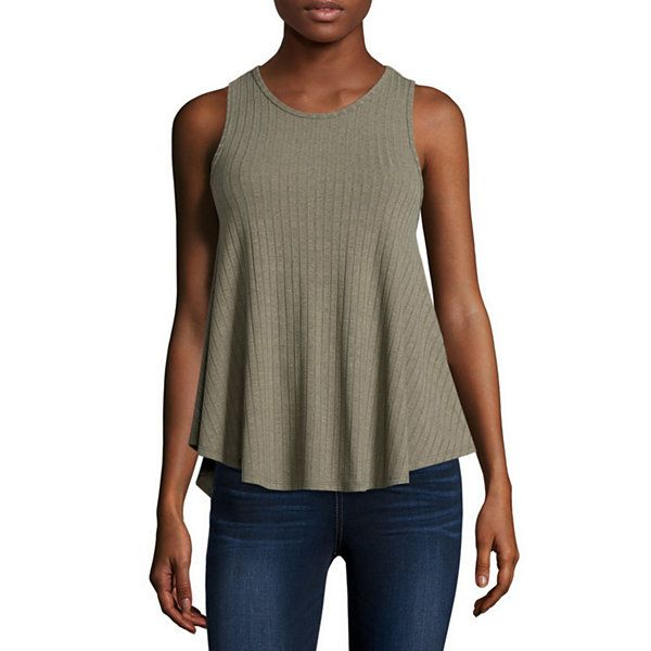 Arizona High-Neck Swing Tank Top | Moor Green | JCPenney