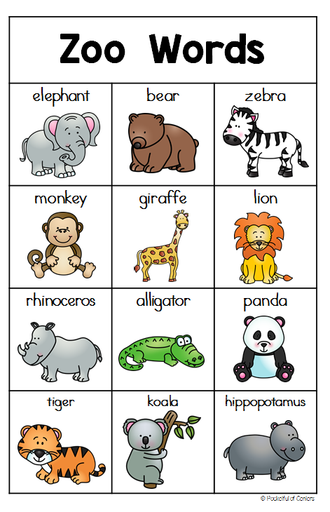 Zoo Writing Center Zoo preschool, Zoo activities