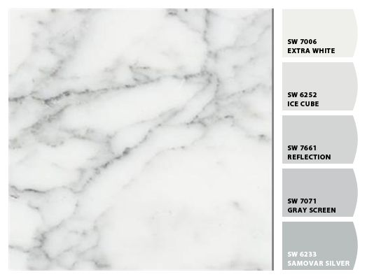 White Carrara Laminate W Paint Colors From Chip It By Sherwin