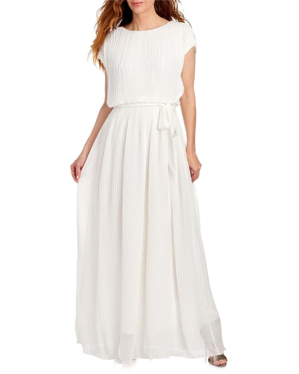 Pleated Chiffon Maxi Dress-Maxi Dresses-Shop by Occasion-Dresses