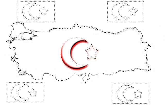 Bayrak Bayrakboyama Türkbayrağı Boyamasayfaları Belirli Günler