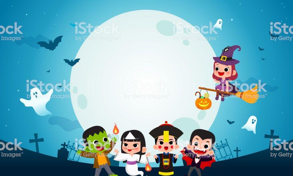 Happy Halloween Background Vector Illustration Frankenstein