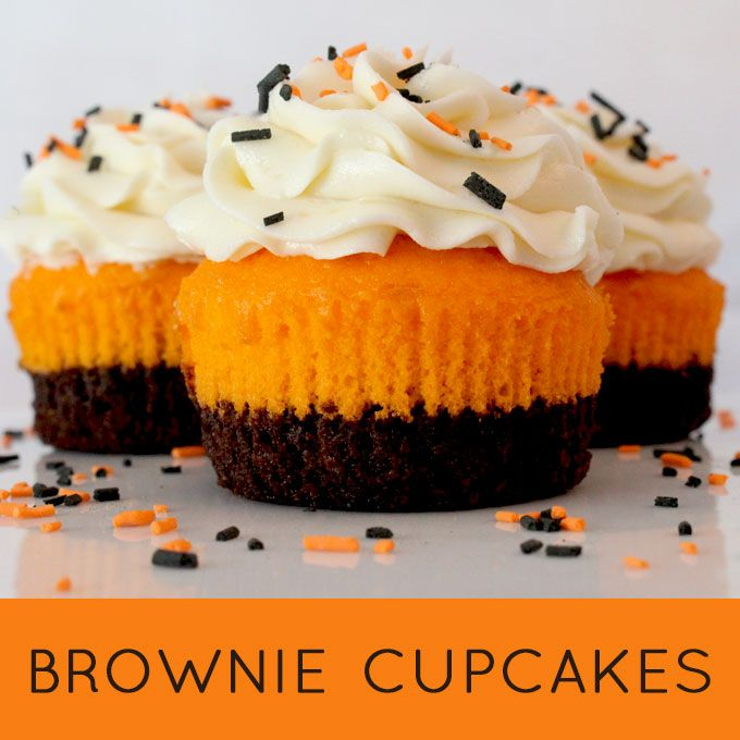 Brownie Cupcakes are super yummy and so easy to make. A unique twist on a classic - brownies plus cake plus frosting in one unique and delicious Cupcake.