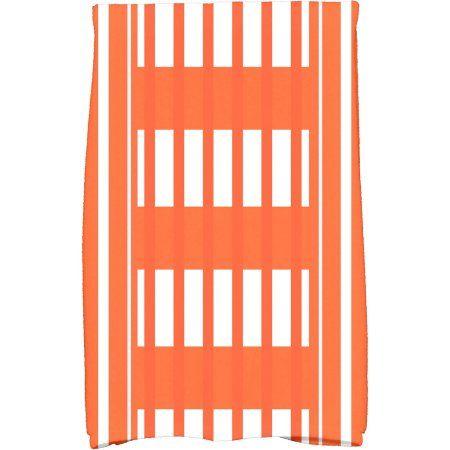 Simply Daisy 16 inch x 25 inch Beach Blanket Stripe Print Hand Towel, Orange