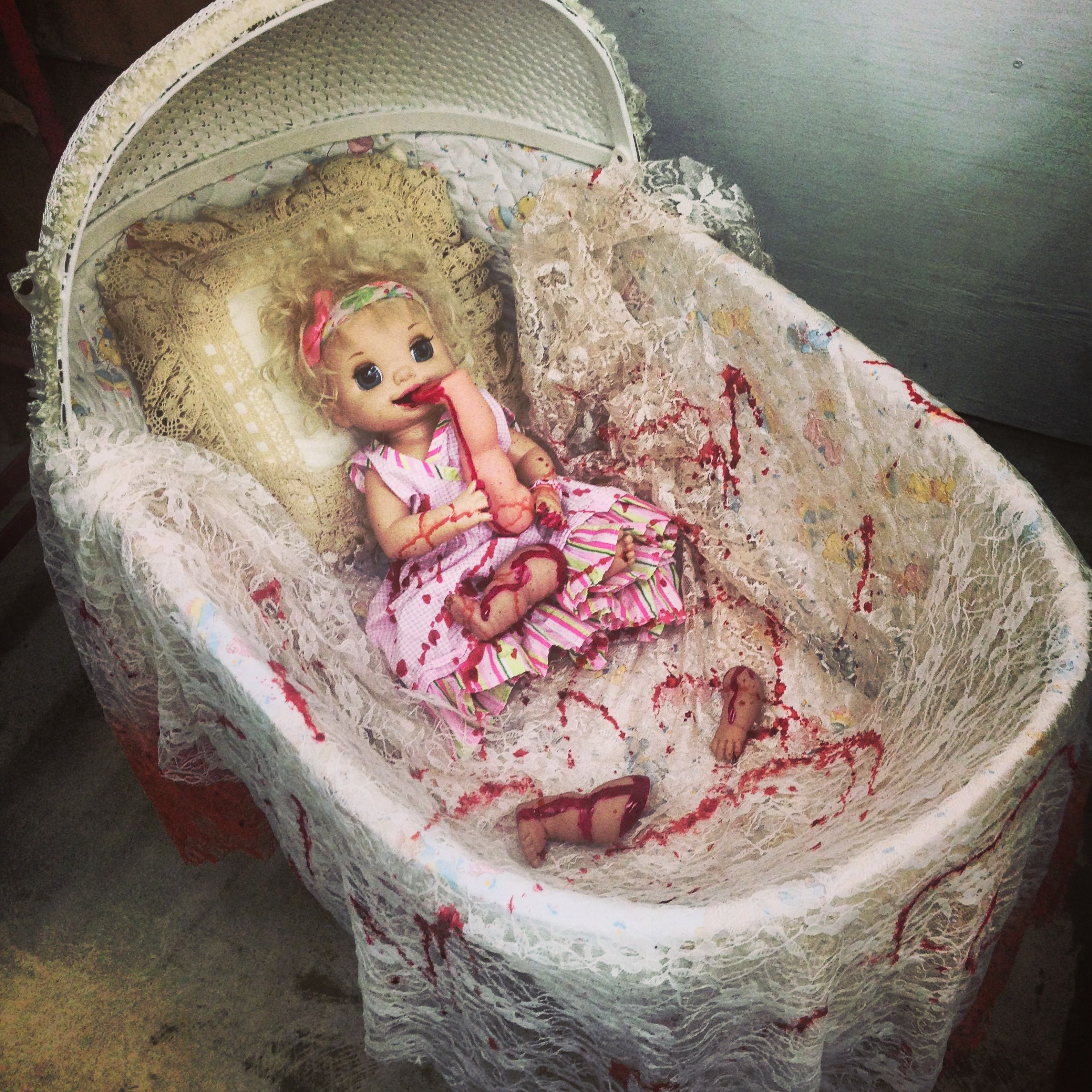 Create A Scary Scene From Thrift Store Dolls & Nail Polish