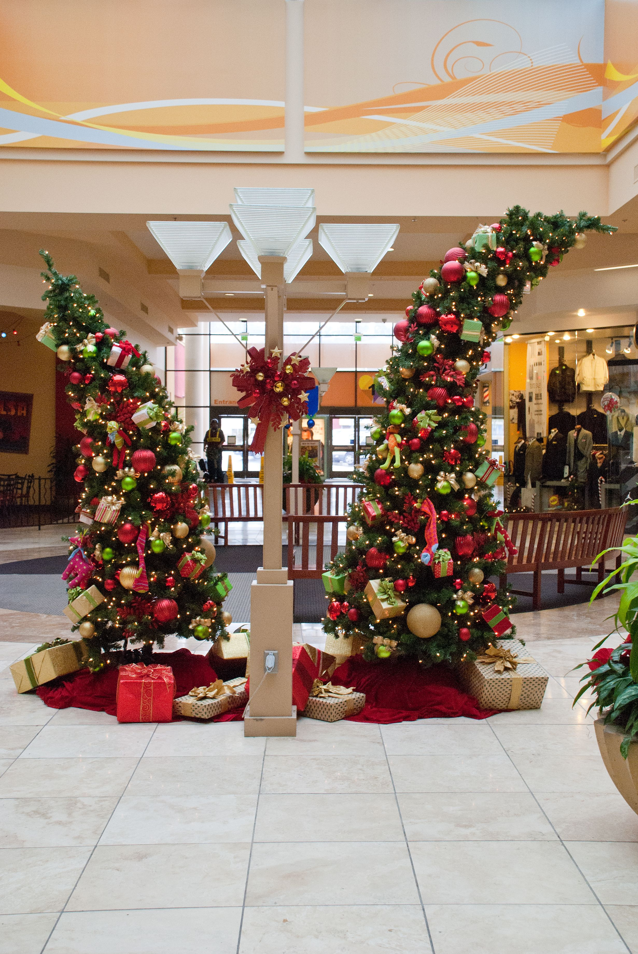 Commercial Holiday Decorations Ambius Whimsical Christmas Trees Whimsical Christmas Decor Christmas Tree Decorations