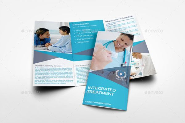 Print Ready Medical Brochure Template  Des Have Industrial Look