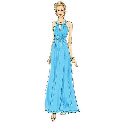 Grecian Dress Pattern for Formal or Casual by patternsandpieces ...